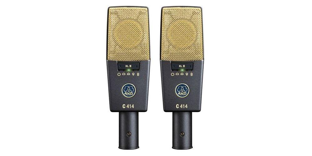 AKG C-414 XL II ST Microfono Estudio   Kit 2 Micros + Maleta Aluminio
