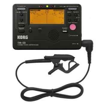 KORG TM 50C BK con CM200 Metronomo Afinador Digital