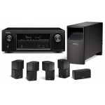 DENON AVR-X1200-AM10-IV Black  Receptor Home Cinema
