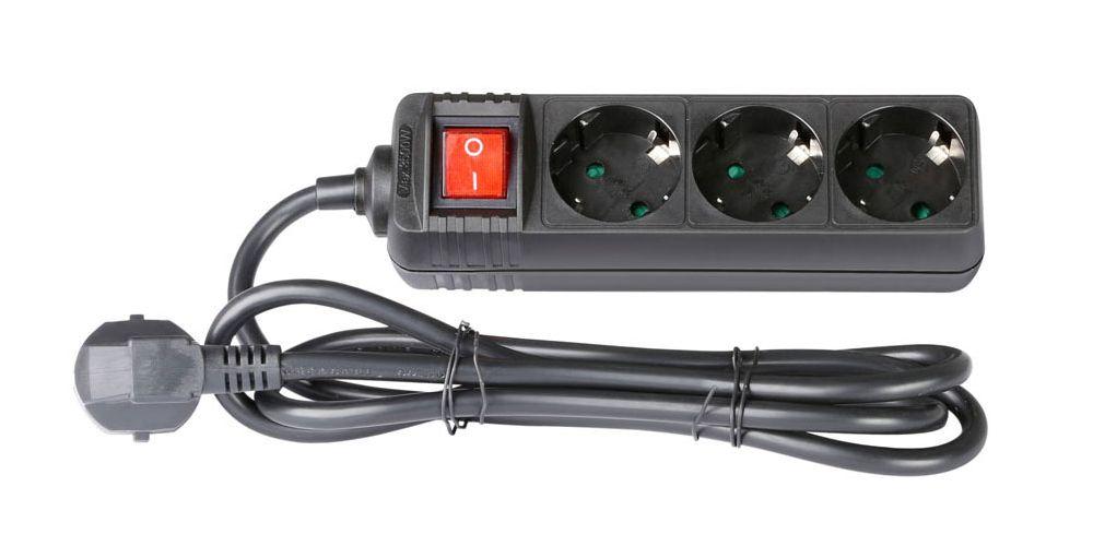 ADAM HALL 8747S3 Cable 1,4m con 3 sucko con interruptor
