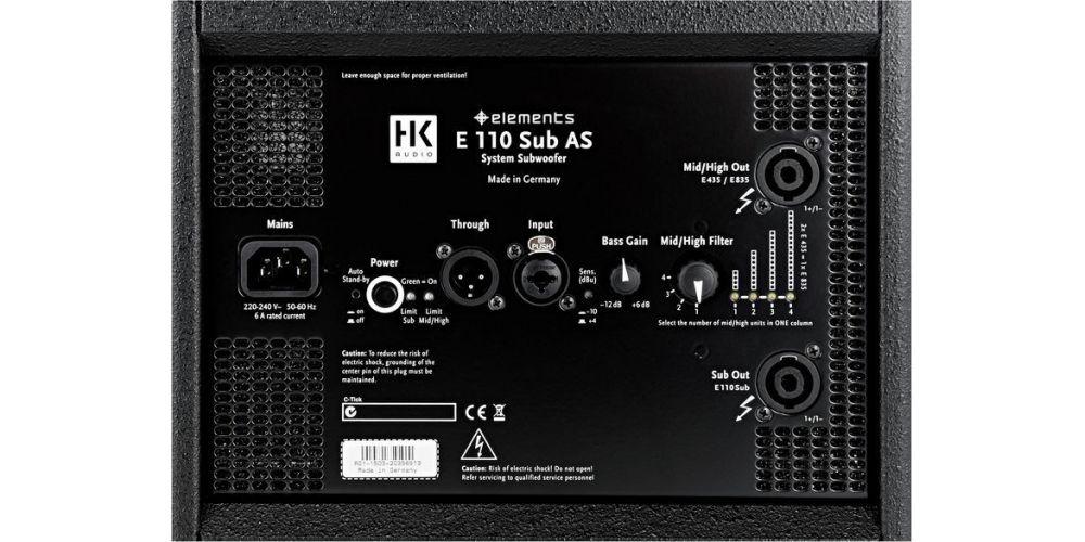 hk audio elements smart base single conexiones