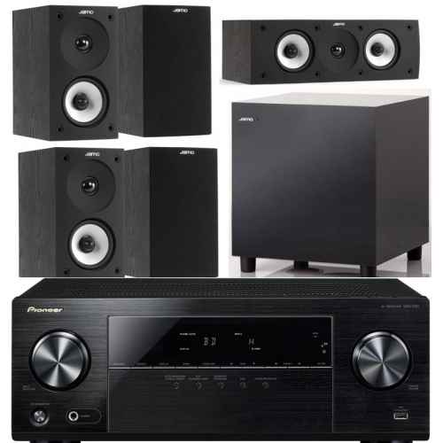 pioneer vsx330 jamo s622 hcs black set sub 210 bk home cinema