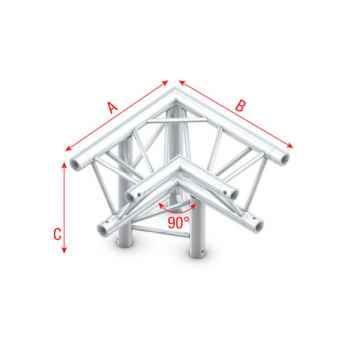 Showtec Corner 90 down left apex down Esquina Triangular 3 Direcciones FT30013