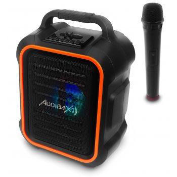 Audibax Combo Port6-VHF Sistema Bluetooth con Batería Recargable y Micrófono Inalámbrico