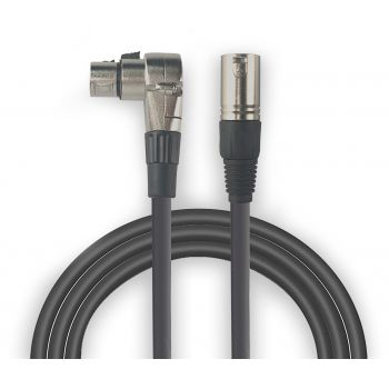 Audibax Silver Cable XLR macho - XLR Hembra Acodado 1 Metro