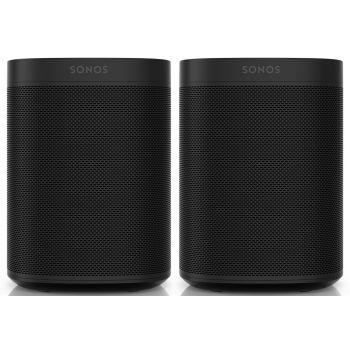 Sonos ONE Black 2 unidades altavoz Wifi Control Voz Negro