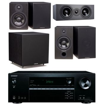 ONKYO TX-NR474+Cambridge SX60 CINEMA PACK 5.1 Bk Conjunto Home Cinema