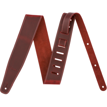 Fender Broken-In Leather Strap Red 2-5