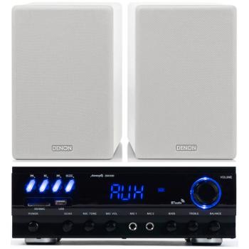 Equipo HiFi Audibax ZERO 500 + Altavoces Estantería Denon SCN10 White