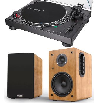 Equipo HiFi Audio Technica ATLP120XUSB Giradiscos + Wiibo NEO 100 Altavoces Activos Bluetooth