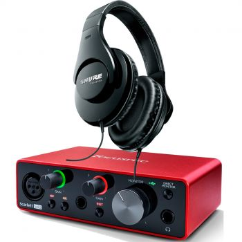 Focusrite Scarlett Solo 3 Gen Interface Audio + Auricular Estudio Pro SHURE SRH-240A