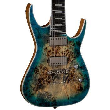Dean Guitars Exile Select 7 Burl Poplar Satin Turquoise Burst. Guitarra Eléctrica de 7 Cuerdas