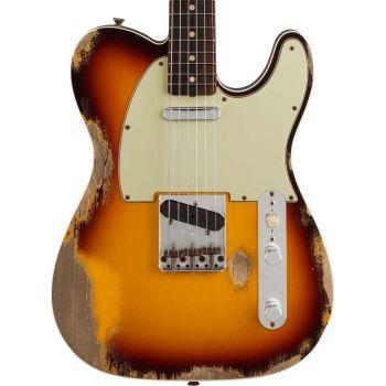 Fender Custom Shop 1960 Telecaster Custom Heavy Relic RW Chocolate 3-Color Sunburst