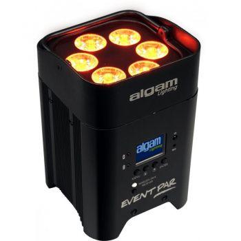Algam Lighting EVENTPAR Proyector LED con Batería 12W RGBWAUV IR y DMX sin Cable