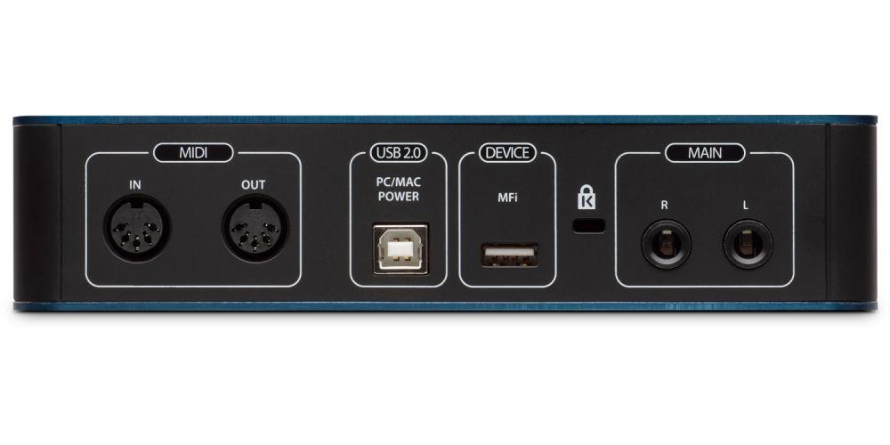 audiobox itwo interface audio midi conexiones