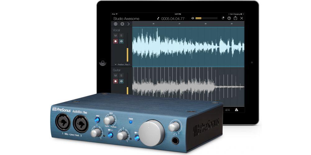 audiobox itwo interface audio midi