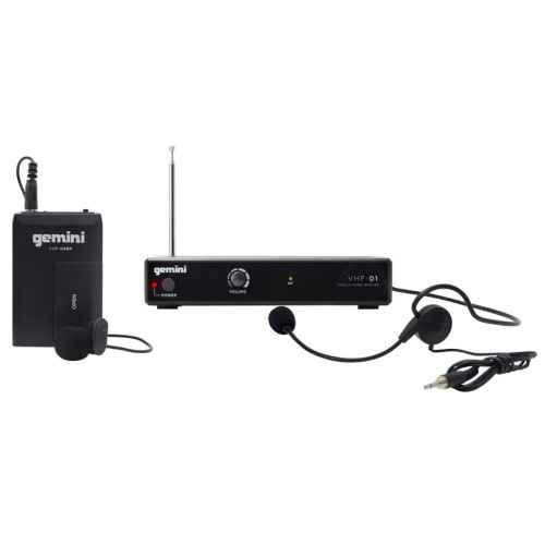 GEMINI VHF-01 HL Canal 6 Micrófono inalámbrico Diadema / Solapa