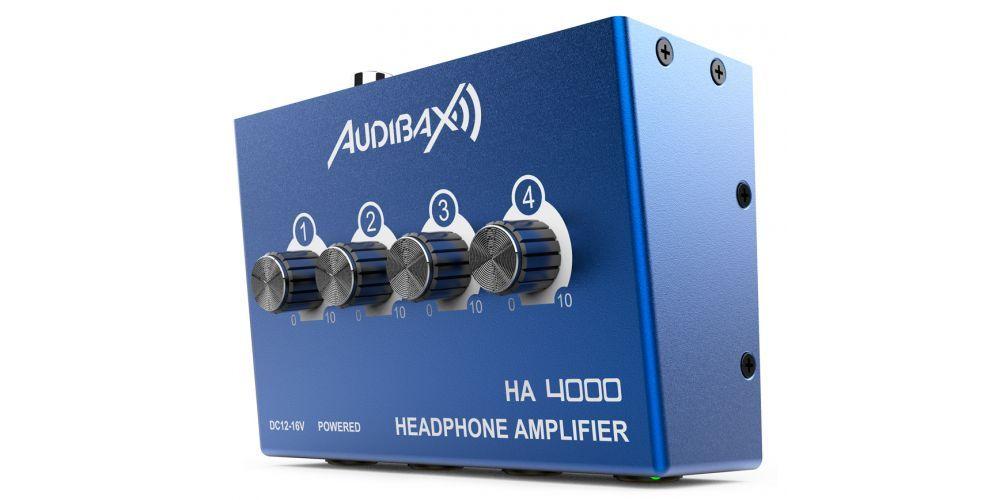 audibax ha4000 amplificador auriculares controles