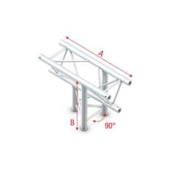 Showtec T-Cross up-down 3-way Cruce Triangular 3 Direcciones para Truss FT30023