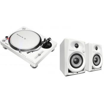 Pioneer Dj Pack PLX 500 Blanco + DM40WH