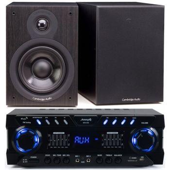 Equipo Hifi Audibax ZERO 1000 + Altavoces Cambridge Audio SX50 Black Conjunto Audio