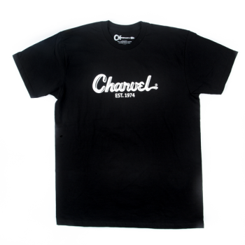 Charvel T-Shirt Logo para Hombre Black Talla M