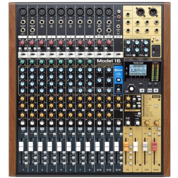 Tascam Model 16 Mesa de mezclas analógica con grabador multipistas e interfaz de audio