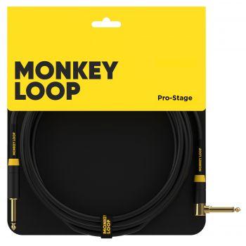 Monkey Loop Pro Stage Silent Cable Jack Mono - Jack Acodado 3 Metros