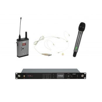 PSSO Set WISE TWO Micrófonos Inalámbricos de Mano y Diadema 518-548MHz