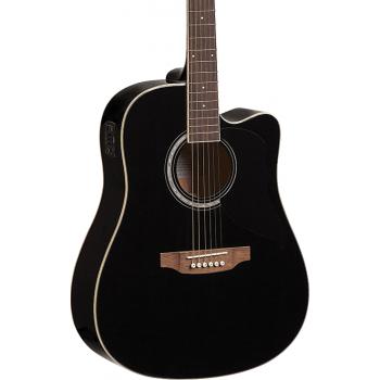 Eko Ranger VI Black Cutaway EQ Guitarra Acustica