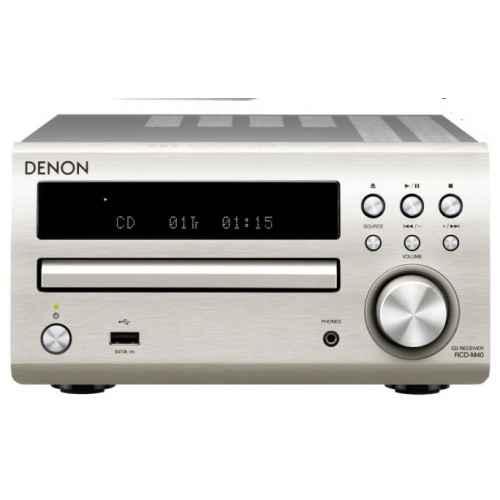 DENON DM-40 Silver  Mini Cadena HiFi  Altavoces Negros