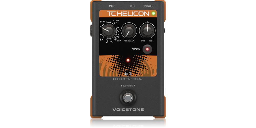 tc helicon voicetone e1 pedal efectos vocal