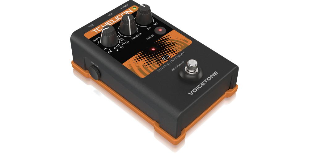 tc helicon voicetone e1 pedal efectos