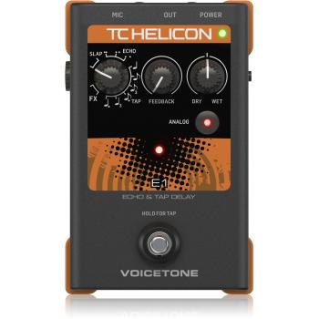 TC Helicon VoiceTone E1 Echo, Pedal de Efectos para Voz -