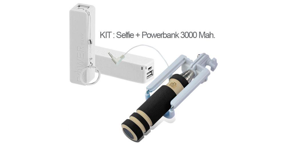 Kit Mini Palo Selfie + PowerBank 3000 Mah.