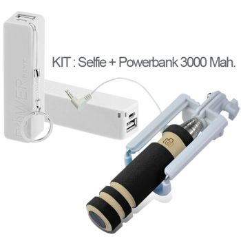 Kit Mini Palo Selfie + PowerBank 3000 Mah.