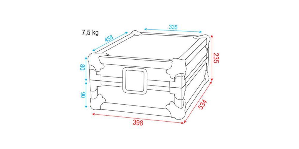 dap audio case for pioneer djm mixer picture
