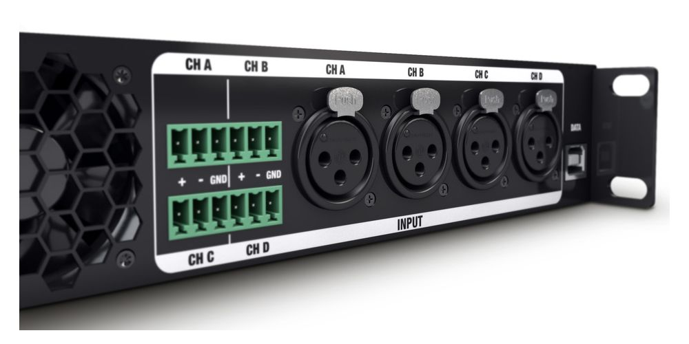 trasera etapa potencia 4 canales CURV500IAMP