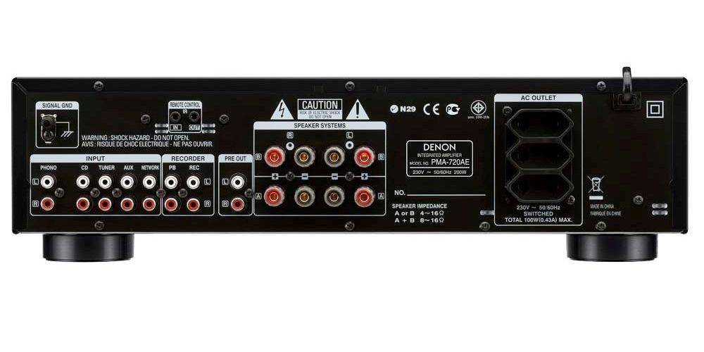 denon pma 720 bk amplificador estereo conexiones