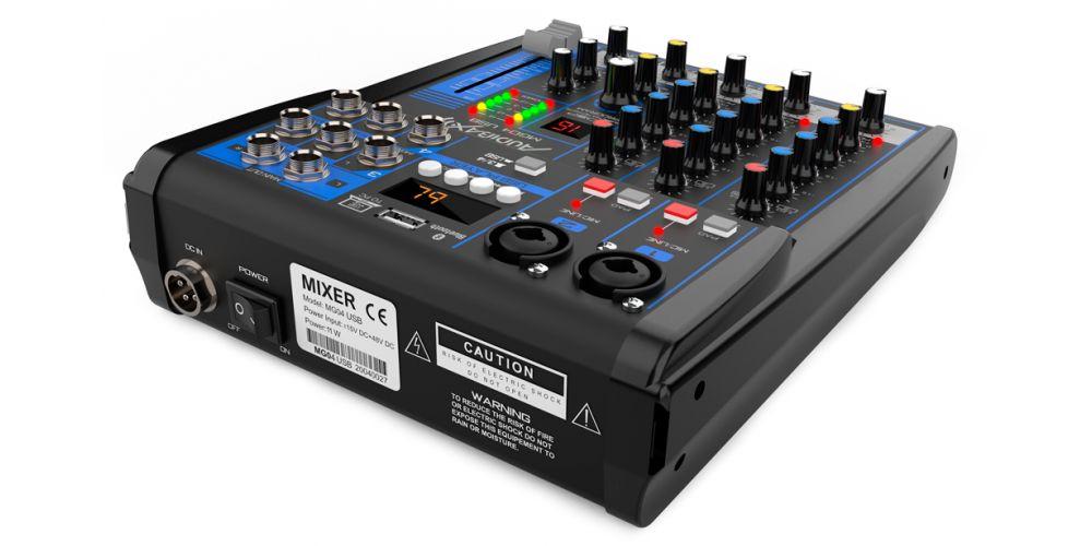 audibax mg04 usb mezcladora con bluetooth mp3 4 canales promocion