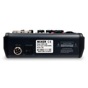 Audibax MG04 USB, Mesa Mezclas con 4 canales Bluetooth, MP3 , USB Rec y EFECTOS.