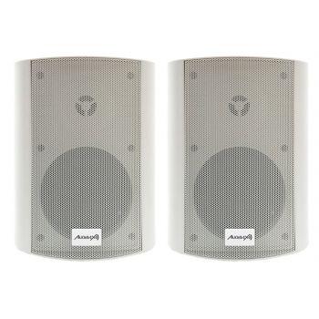 Audibax PR-52W Pareja Altavoces 100W Stereo con Soporte Blancos