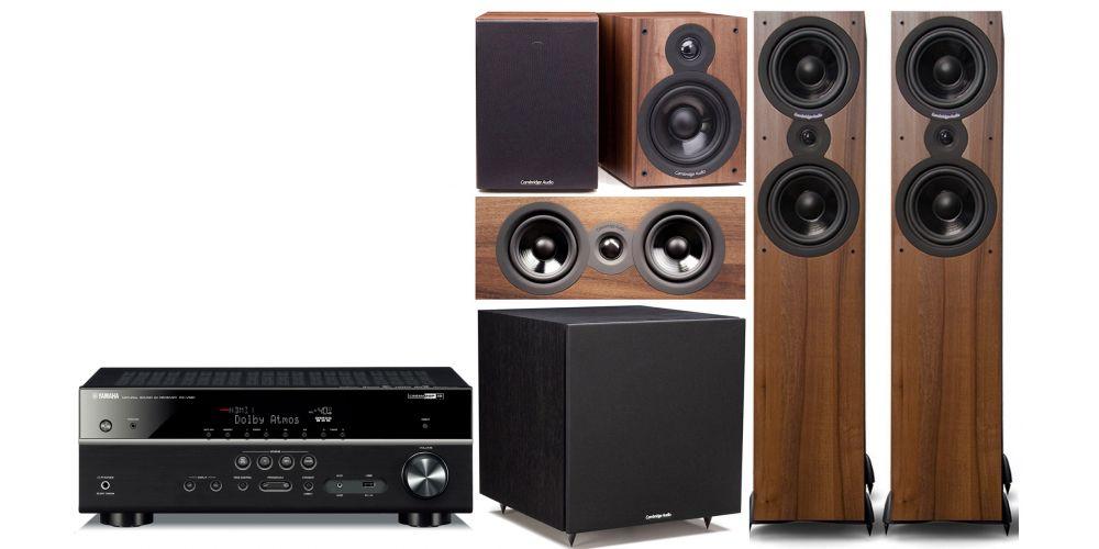 yamaha rxv585 Cambridge Audio SX  80 cinema pack sx120 sx80 sx70 sx50 Columna altavoz acabado walnut