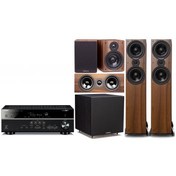 Yamaha RXV585+Cambridge SX80 Walnut Conjuntos Home Cinema Pack 5.1