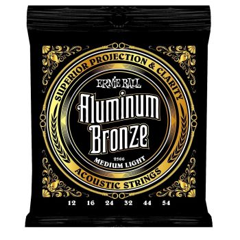 ERNIE BALL 2566 JUEGO ACÚSTICA ALUMINUM BRONZE MEDIUM LIGHT 12-54