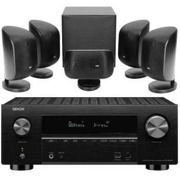 DENON AVR-X3500+BW MT50 Black Conjunto Home Cinema