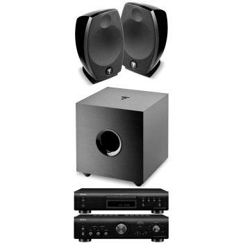Denon PMA-800NE Black+DCD800 Black+Focal Sib Evo+Cub Evo Conjunto Audio