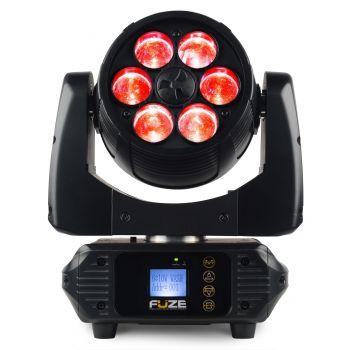 BEAMZ FUZE-610Z Set 2 Unidades Cabeza Movil Wash con Zoom 75W LED Con FlightCase 150387