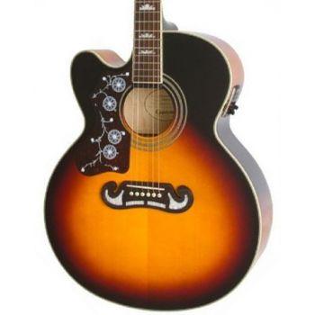 Epiphone EJ-200SCE LH Vintage Sunburst Guitarra Electroacústica para zurdos