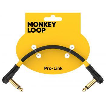Monkey Loop Pro Link Pedal Guitar Patch Cable 15 cm Jack Acodado a Jack Acodado